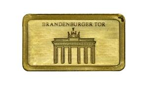 1/2 Gramm Gold Barren Brandenburger Tor
